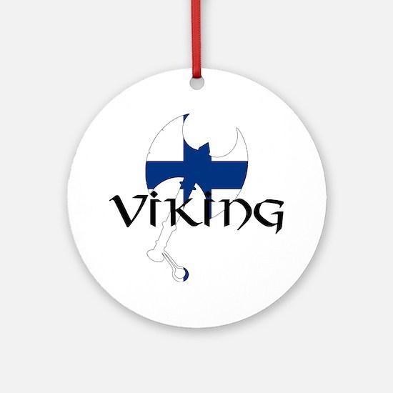Finnish Viking Axe Ornament (Round)