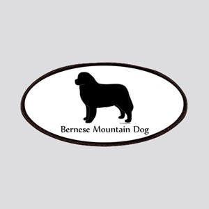 Bernese Mtn Dog Silhouette Patches