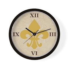 NOLA Fleur De Lis Wall Clock