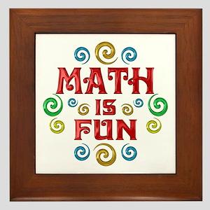 Math is Fun Framed Tile