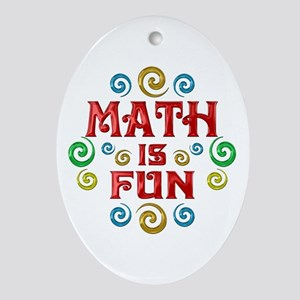 Math is Fun Ornament (Oval)