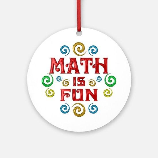 Math is Fun Ornament (Round)