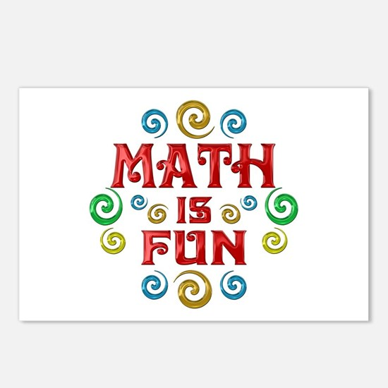 Math is Fun Postcards (Package of 8)