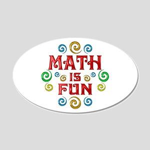 Math is Fun 22x14 Oval Wall Peel