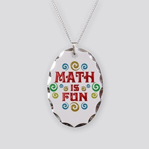 Math is Fun Necklace Oval Charm