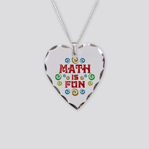 Math is Fun Necklace Heart Charm