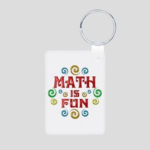 Math is Fun Aluminum Photo Keychain
