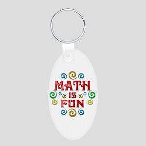 Math is Fun Aluminum Oval Keychain