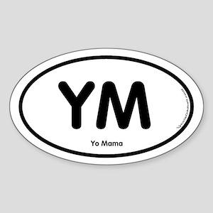 YM Oval Sticker