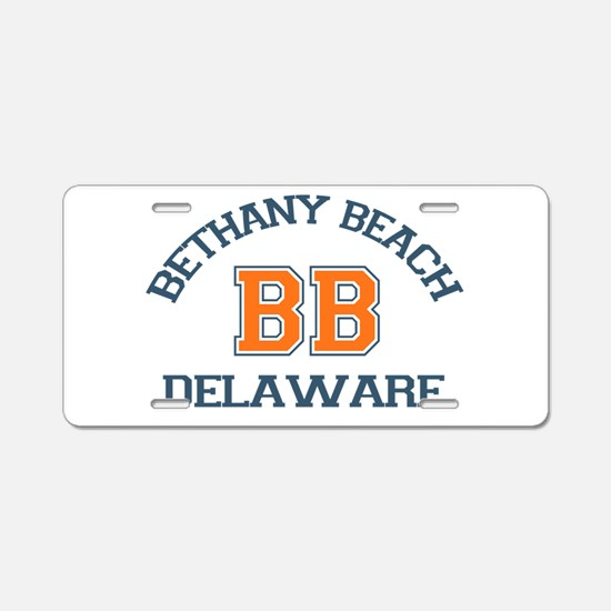 Bethany Beach - Varsity Design Aluminum License Pl