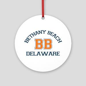 Bethany Beach - Varsity Design Ornament (Round)