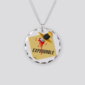 Stabbed Red Shirt Necklace Circle Charm
