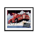 Snow Cruiser Framed Panel Print