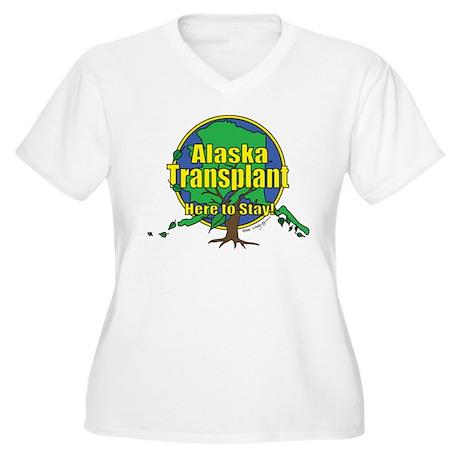 Alaska Transplant Women's Plus Size V-Neck T-Shirt