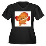 Chef Michel Women's Plus Size V-Neck Dark T-Shirt