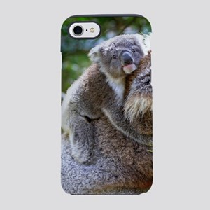 Baby Koala Bear with mom iPhone 7 Tough Case