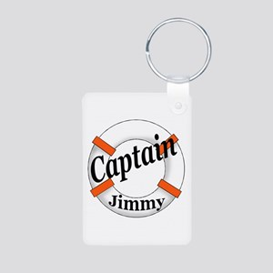 Captain Jimmy Aluminum Photo Keychain