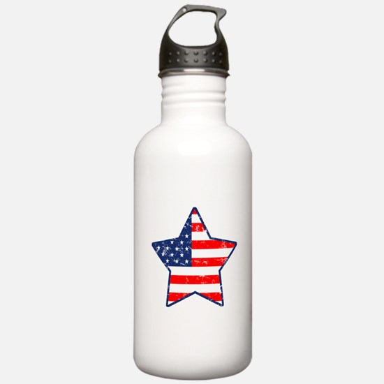 Patriotic Star Water Bottle