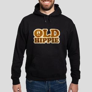 Old Hippie Peace Hoodie (dark)