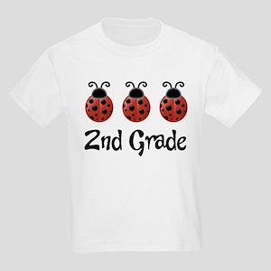 2nd Grade School Ladybug Kids Light T-Shirt