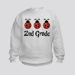 2nd Grade School Ladybug Kids Sweatshirt