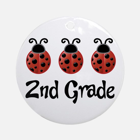 2nd Grade School Ladybug Ornament (Round)