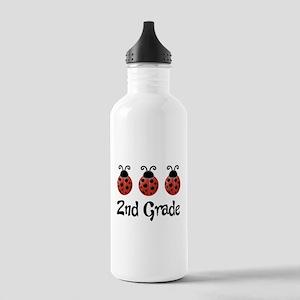 2nd Grade School Ladybug Stainless Water Bottle 1.
