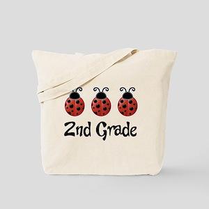 2nd Grade School Ladybug Tote Bag