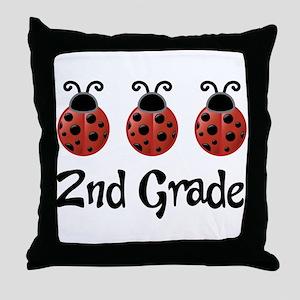 2nd Grade School Ladybug Throw Pillow