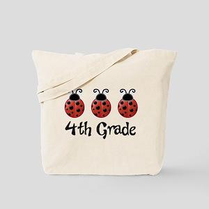 4th Grade School Ladybug Tote Bag