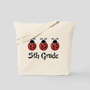5th Grade School Ladybug Tote Bag