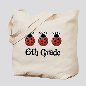 6th Grade School Ladybug Tote Bag