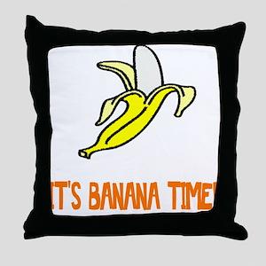 Weird Banana Time Throw Pillow