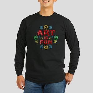 Art is Fun Long Sleeve Dark T-Shirt