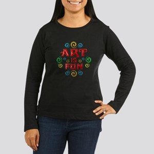 Art is Fun Women's Long Sleeve Dark T-Shirt