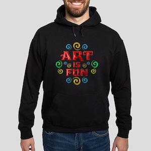 Art is Fun Hoodie (dark)