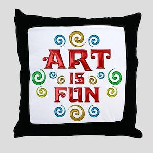 Art is Fun Throw Pillow