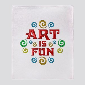 Art is Fun Throw Blanket