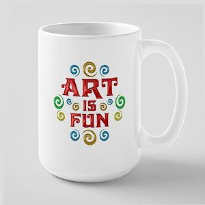 Art is Fun Large Mug