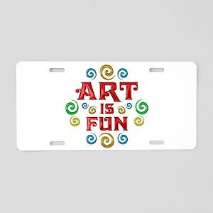 Art is Fun Aluminum License Plate