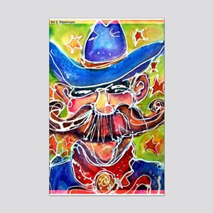 Cowboy, colorful, Mini Poster Print
