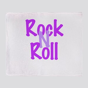 Rock N Roll Throw Blanket