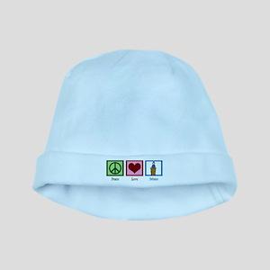 Peace Love Debate baby hat