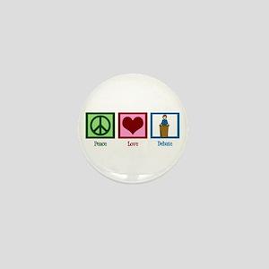 Peace Love Debate Mini Button