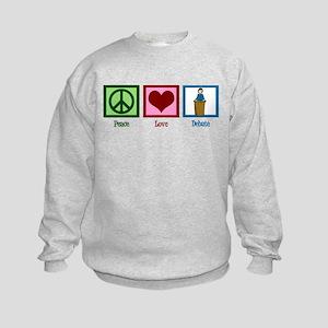 Peace Love Debate Kids Sweatshirt
