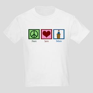 Peace Love Debate Kids Light T-Shirt