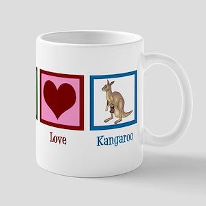 Peace Love Kangaroo Mug