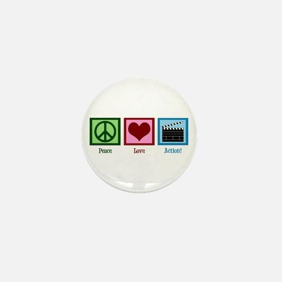 Peace Love Action! Mini Button