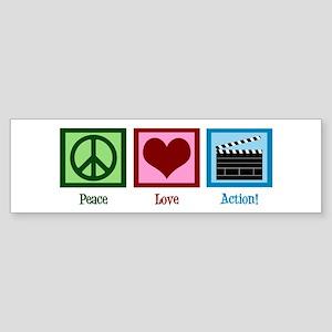 Peace Love Action! Sticker (Bumper)