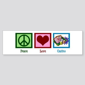 Peace Love Casinos Sticker (Bumper)